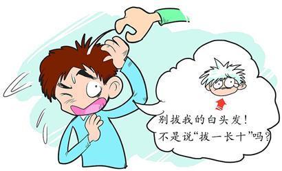 不同类型的白发伴随的症状